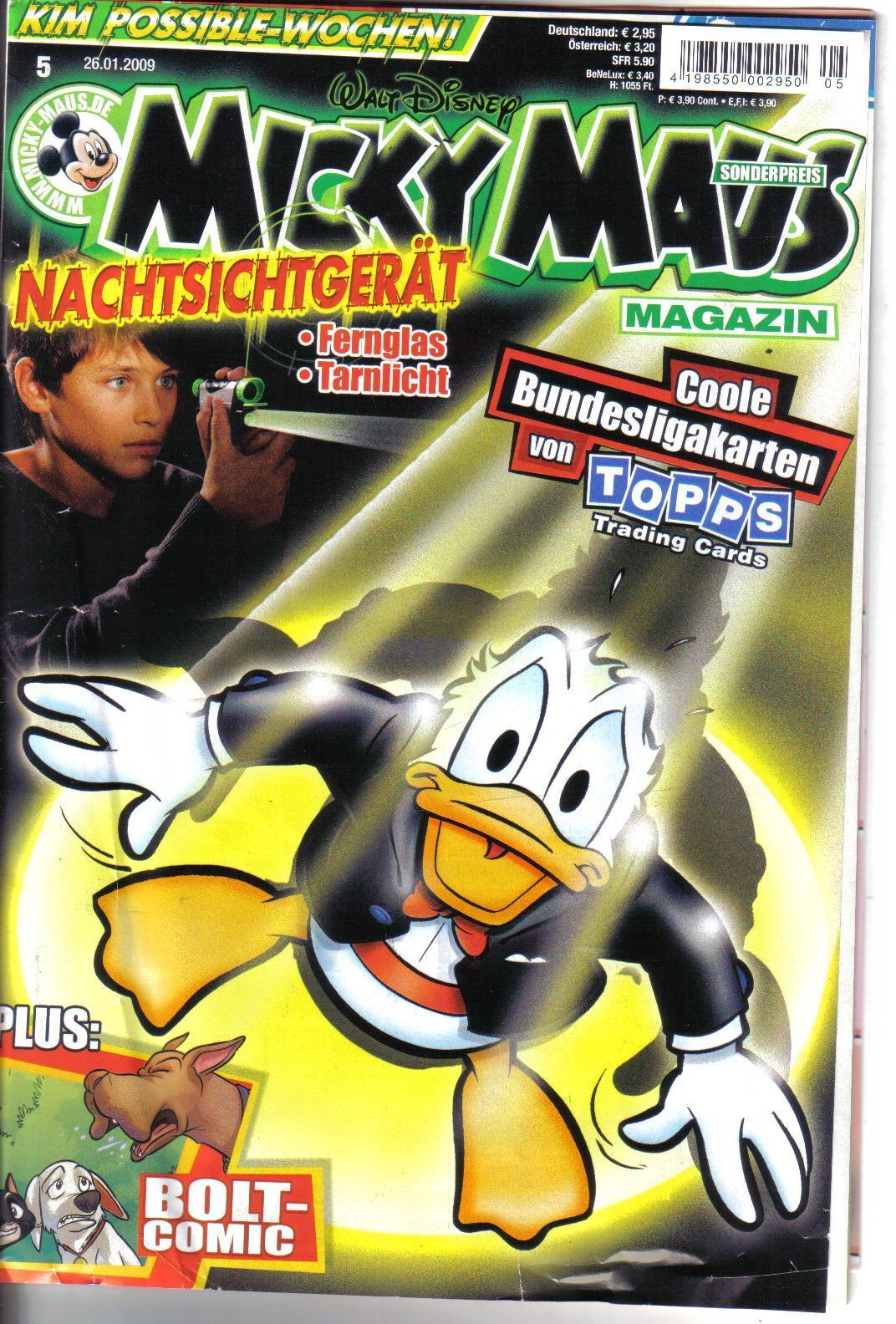 Micky Maus  26.01.2009 +  gogo `s  Sticker album